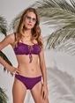 Morhipo Beach Göğüs Detaylı Bikini Mürdüm